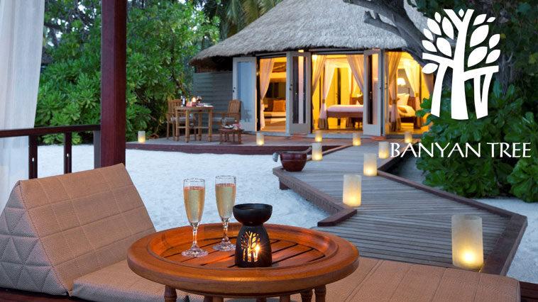 Вилла в отеле Banya Tree Vabbinfaru на Мальдивах