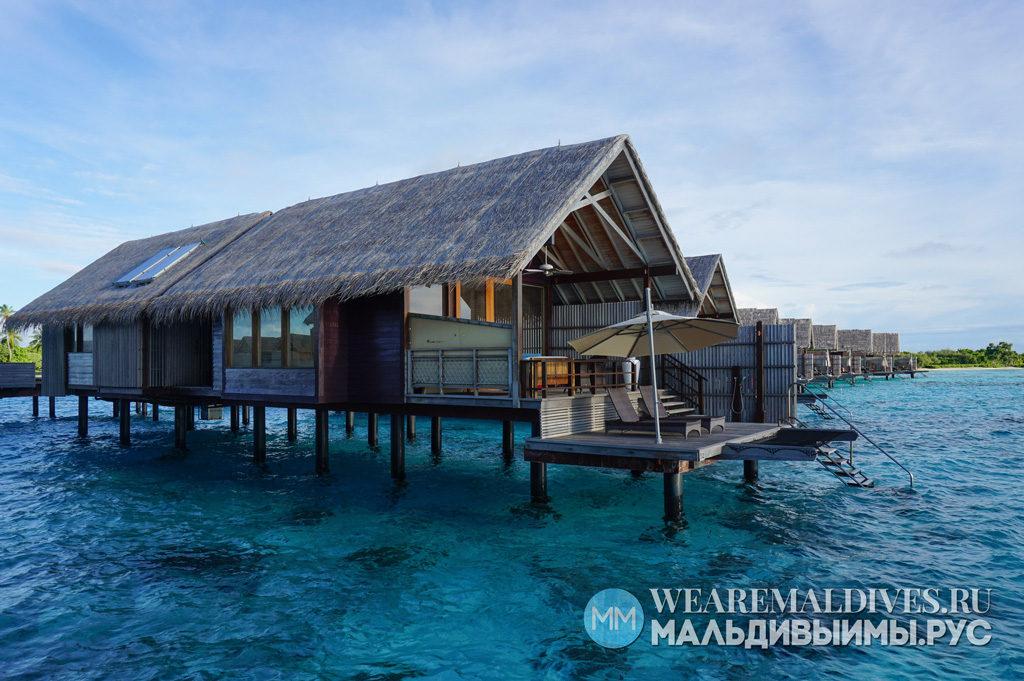 Водные виллы мальдивского отеля Shangri-La's Villingili