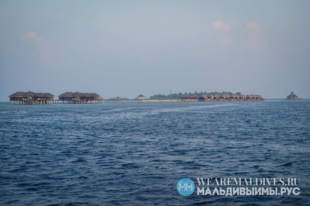 Водные виллы острова Huvafen Fushi