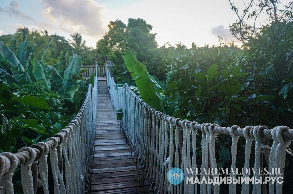 Канатный мост в ресторан Fresh In The Garden