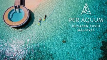 Бассейн, пляж и лагуна отеля Huvafen Fushi Maldives