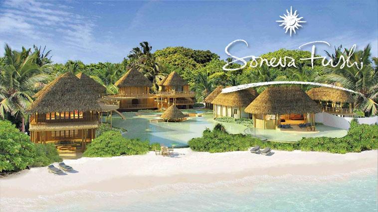 Пляжная вилла отеля Soneva Fushi на Мальдивах