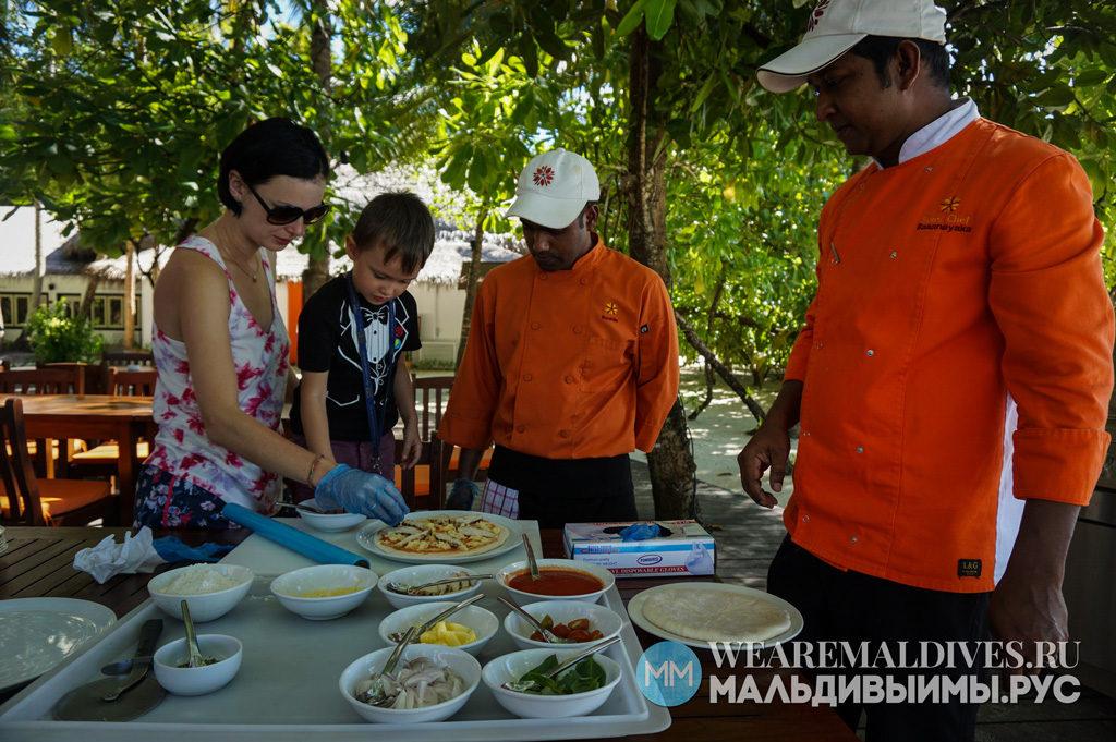 Cooking class для детей на Мальдивах