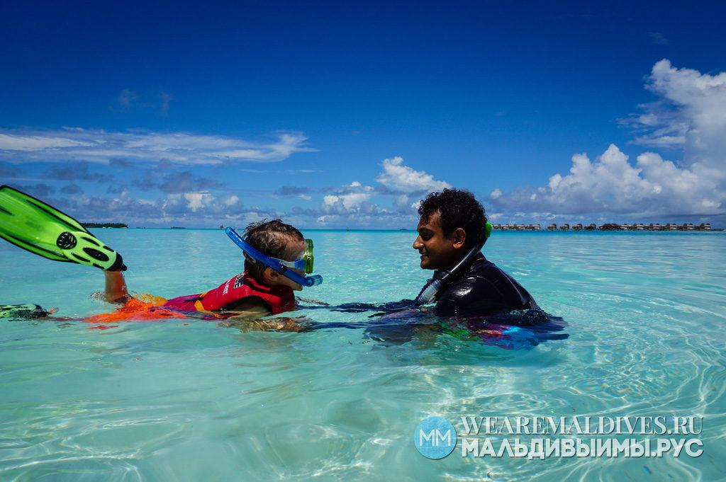 Снорклинг для детей на Мальдивах