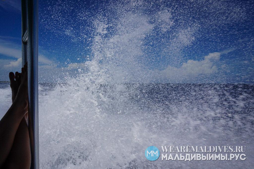 Трансфер на скоростной лодке на остров-отель Kihaad в Мальдивах
