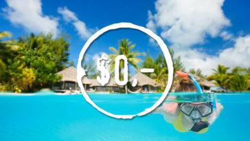 Сноркелинг плавание с маской и трубкой на Мальдивах бесплатно