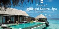 Бассейн и вилла на острове отеле Shangri-La's Villingili Resort & Spa